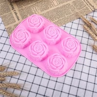 rose flower silicone molds wedding cupcake topper fondant cake decorating tools sugarcraft candy clay chocolate gumpaste mould