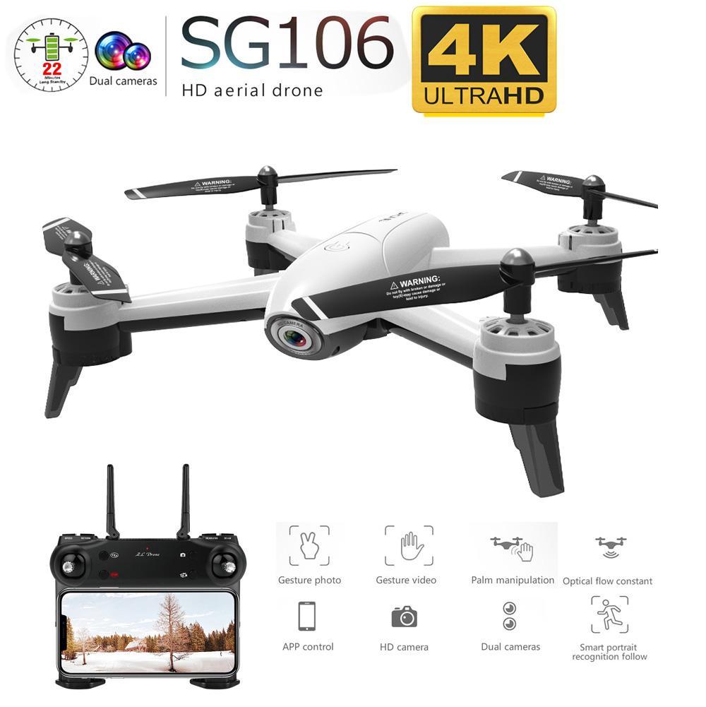 Gn106 RC Drone flujo óptico 1080P 4K Cámara dual de HD en tiempo Real vídeo aéreo RC Quadcopter aviones posicionamiento RTF juguetes niños