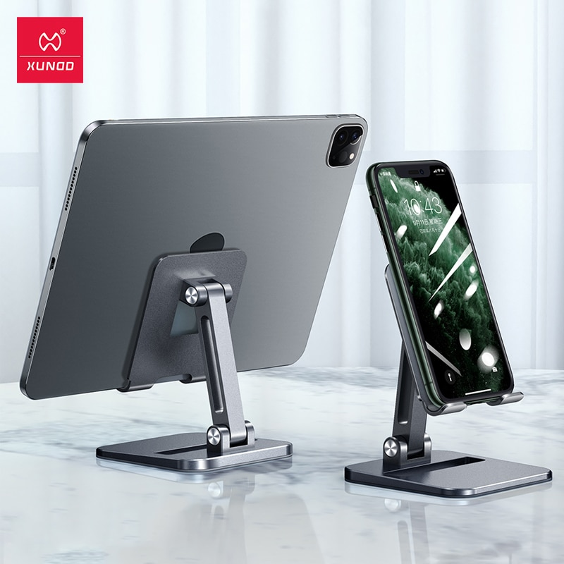 Xundd Tablet Stands For iPad Pro Case Adjustable Foldable Height Angle Phone Holder For Xiaomi iPhon