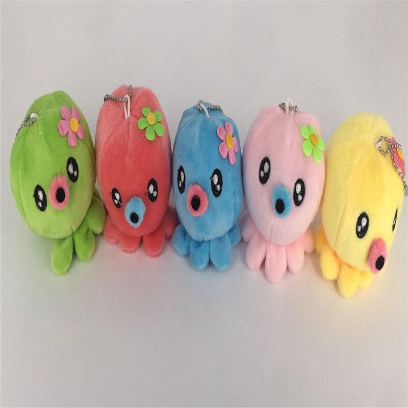 5 цветов плюшевые игрушки, 7 см брелок для ключей, плюшевые игрушки для животных