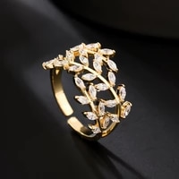 creative branch ring jewelry luxury exquisite ring high fashion personality index finger ring