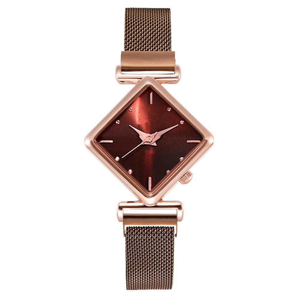 Women Square Watch Luxury Ladies Quartz Magnet Buckle Gradient Color Watches Relogio Feminino For Gift Clock enlarge