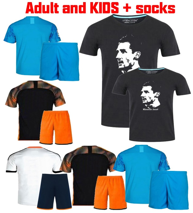 2019 camiseta de fútbol de valenciacf 2019 2020 camiseta de fútbol 3d chándal de valenciacf traje de adulto + calcetines camiseta