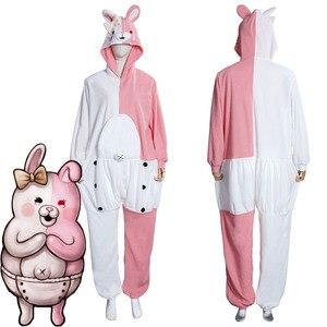 Danganronpa Dangan Ronpa Monokuma and Monomi Cosplay Costumes Jumpsuit Pajamas Sleepwear Halloween Carnival