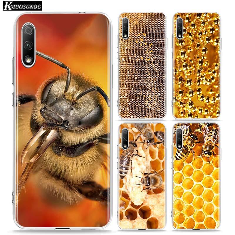 Прозрачный чехол из ТПУ с золотистыми сотами пчелы для huawei Honor 10i 9X8X20 10 9 Lite 8 8A 7A 7C Pro Lite чехол для телефона