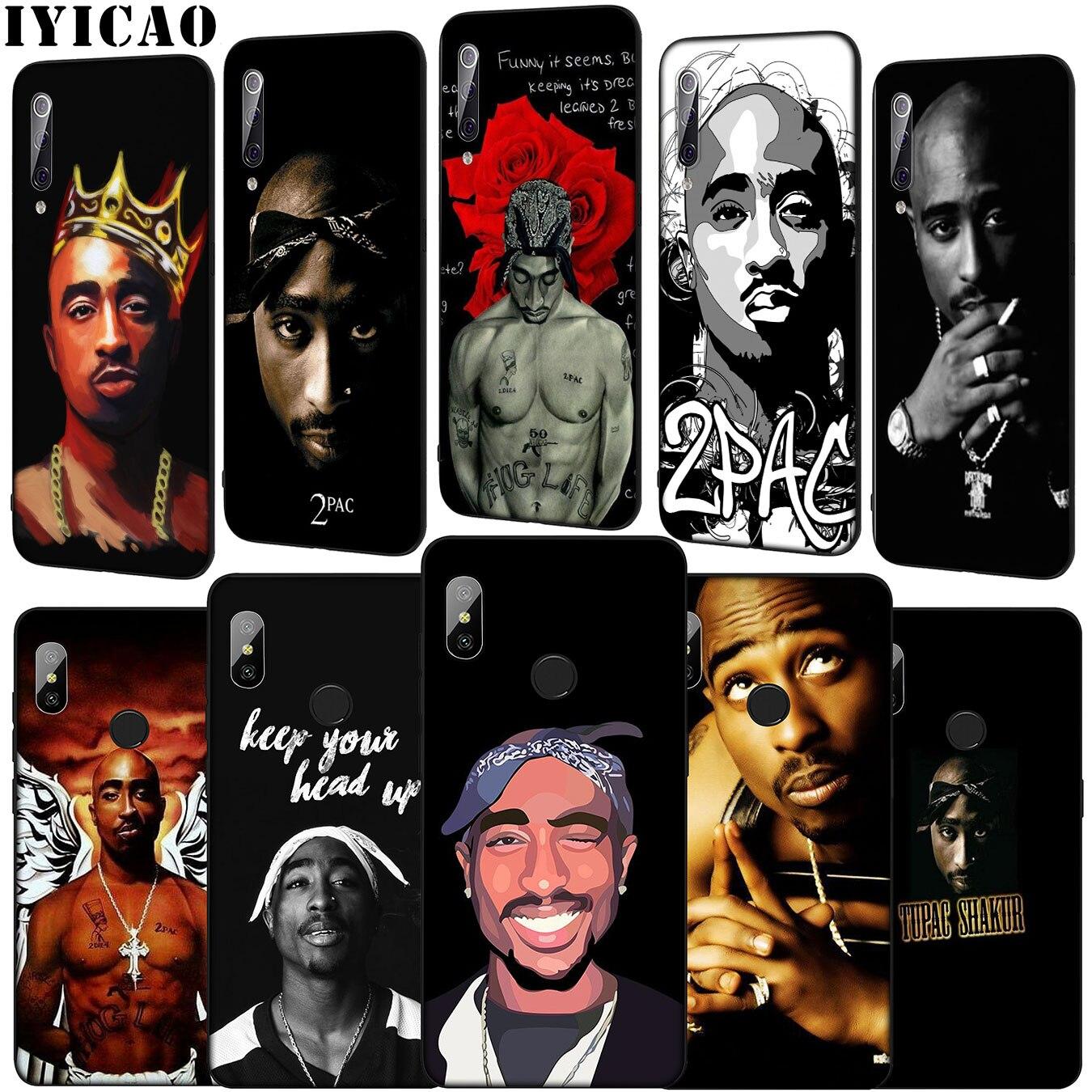 2pac Tupac rapero estuche para teléfono suave para Xiaomi mi 9 9T A3 PRO CC9 CC9E 8 A2 Lite A1 6 6X 5X teléfono móvil f1 MAX 3