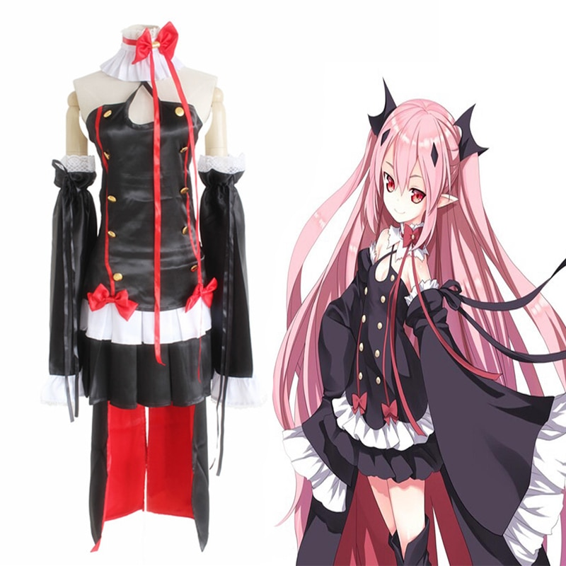 Anime Seraph Of The End Vampire Reign Cosplay Costumes Krul Tepes Cosplay Dresses Halloween Party Owari No Seraph Vampire Queen