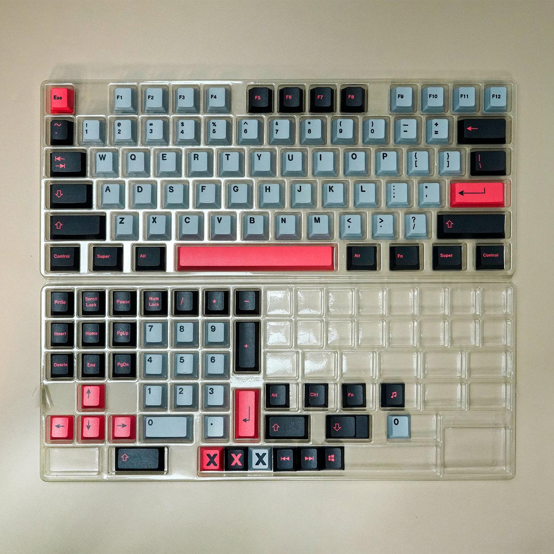 لوحة المفاتيح أغطية المفاتيح الميكانيكية لوحة المفاتيح PBT مفتاح لوحة المفاتيح الميكانيكية 8008 130 مفاتيح + PBT الكرز الشخصي عكس صبغ المفاتيح الف...