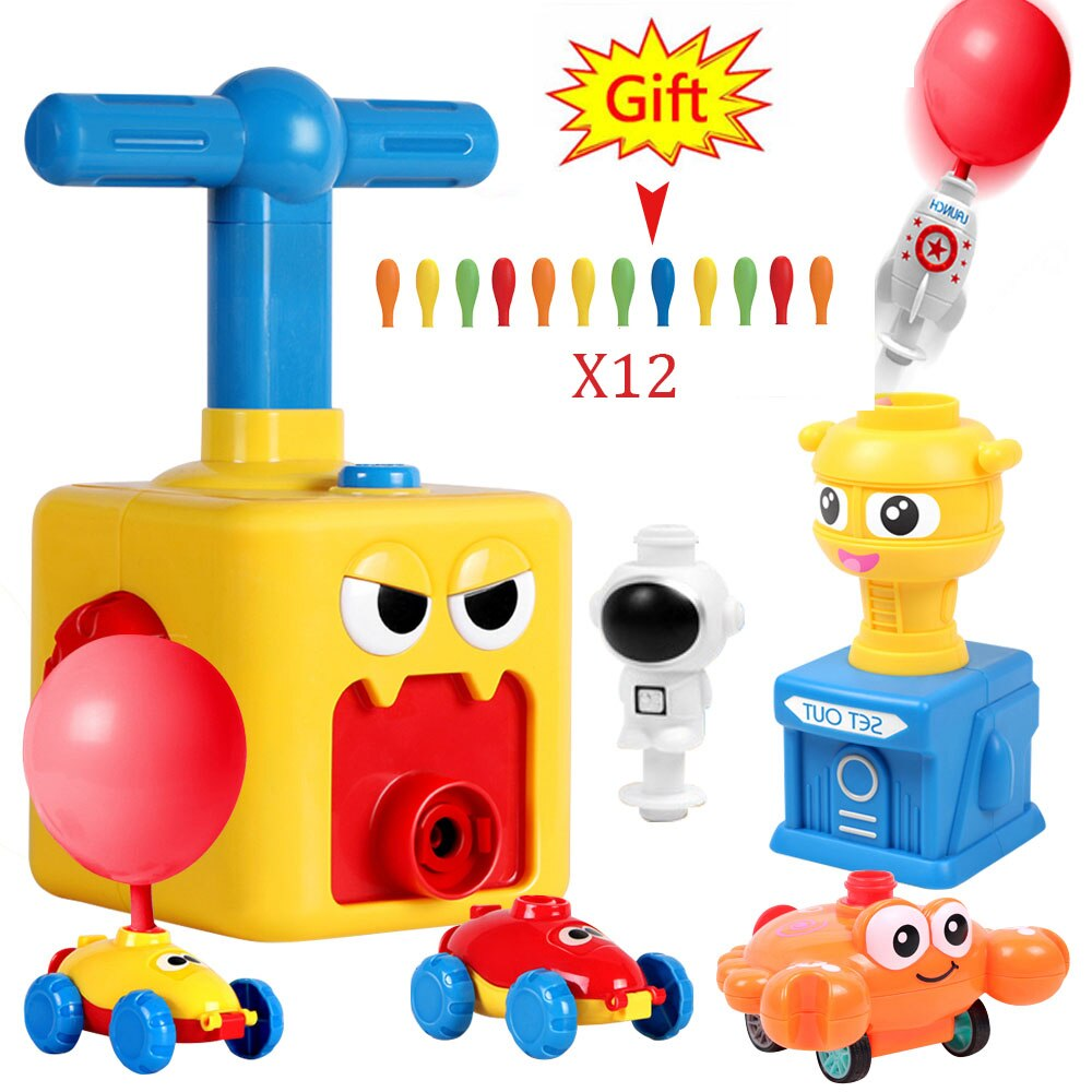 Cute Balloon Powered Car Balloon Launcher Science Experiment Toy Educational And Fun Early Childhood