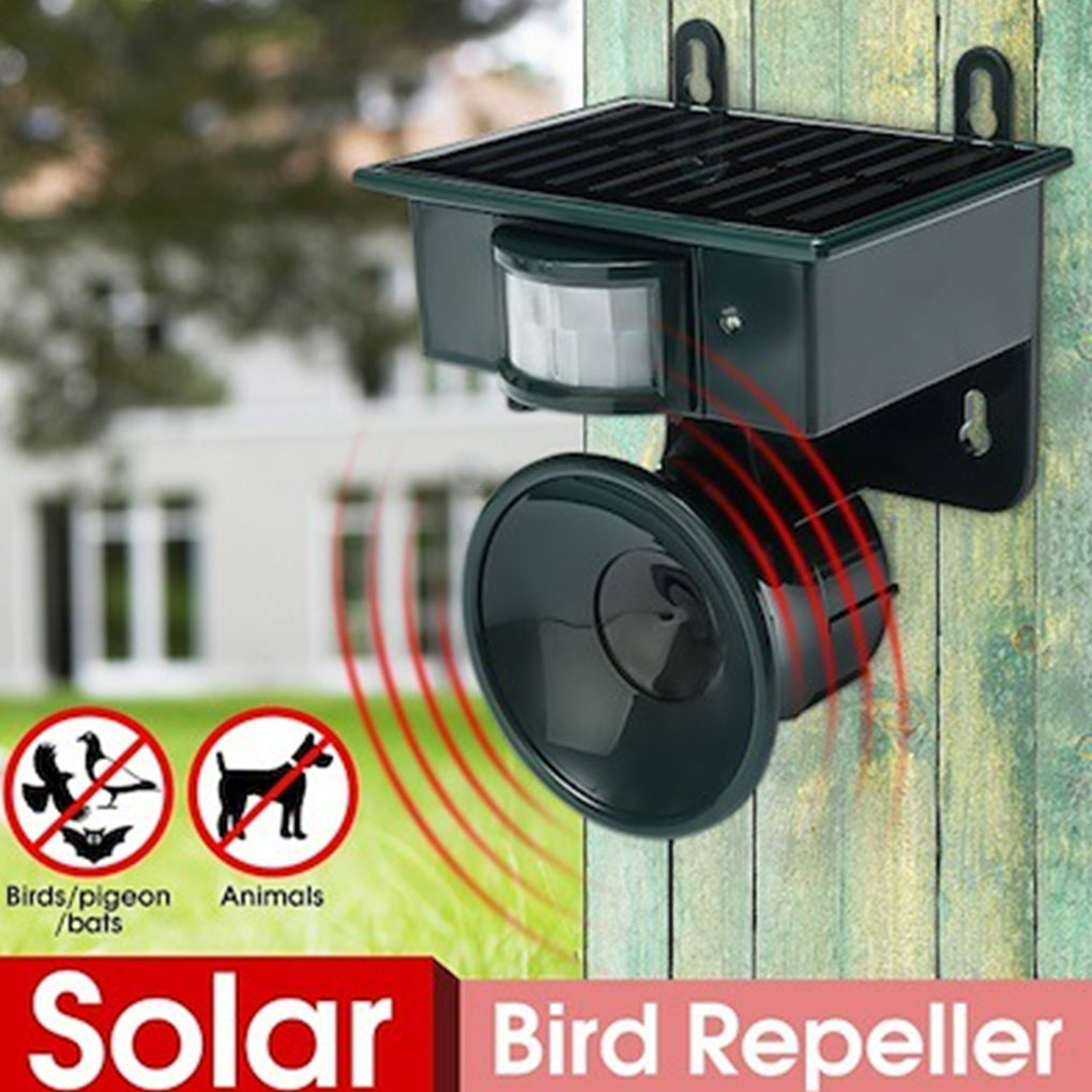 Sonic Outdoor Solar Animal Bird Repeller PIR Motion Sensor Repellent Scarer Scare Wild Animals Away