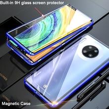 360 étui pour huawei Mate 30 Pro étui de protection magnétique complet pare-chocs en métal pour huawei Mate30 étui Fundas Coque en verre
