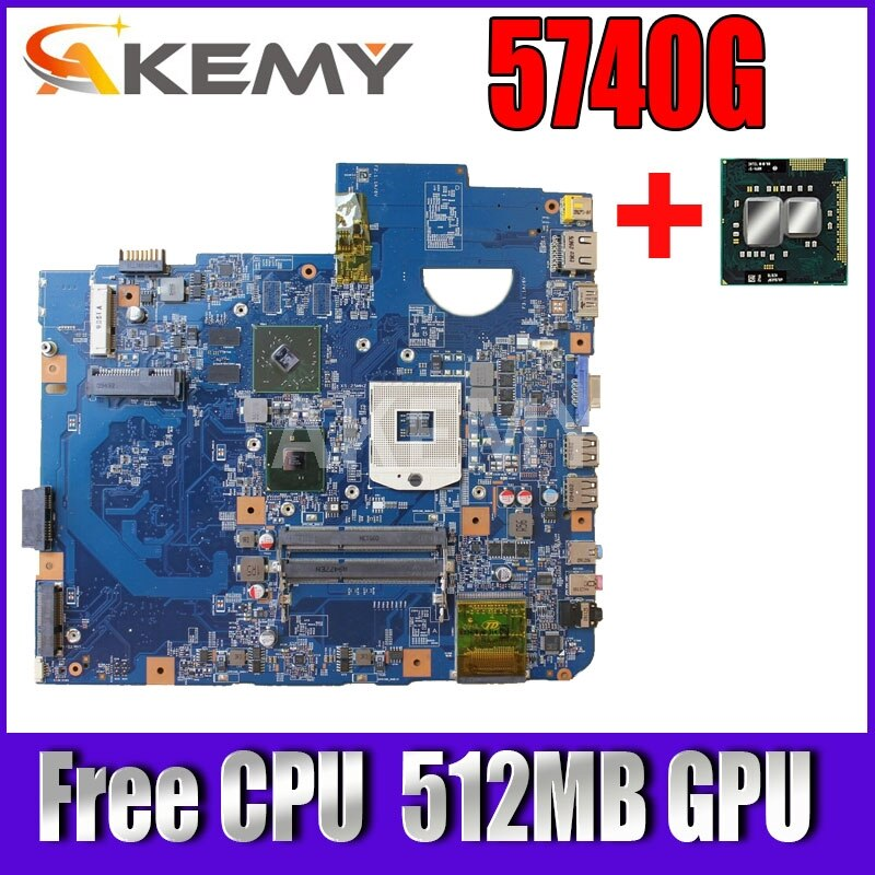 Akemy para Acer Aspire Computador Portátil Placa-mãe Mbpmg01001 Mb. Pmg01.001 48.4gd01.01m Hm55 Ddr3 512mb Gpu Cpu Livre 5740g 5740 5740z