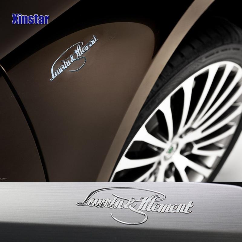 Pegatina Interior de acero inoxidable para Skoda Superb Fabia Octavia Rapid Superb...
