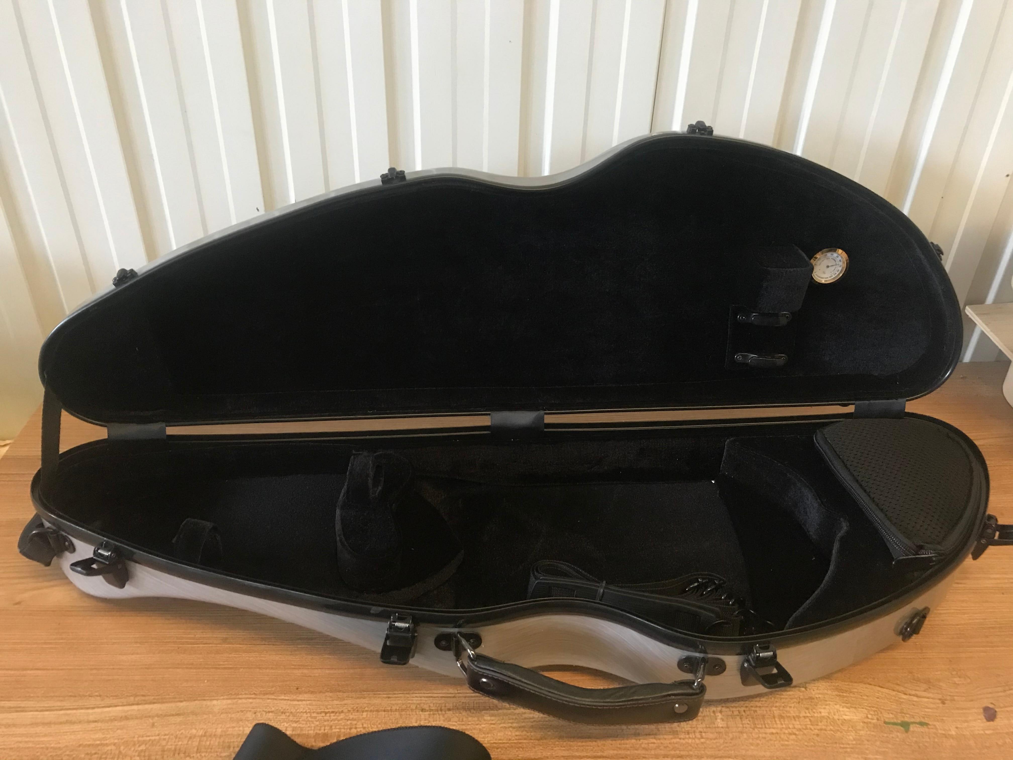 Advanced 3/4 Violin Case Carbon Fiber Triangle Box Light Strong Waterproof Wear-resistant Steel Style Hard Box enlarge