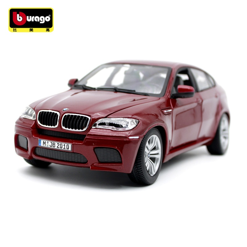 Burago, juguete de modelo de coche de simulación de Metal a escala 118 para BMW X6M, decoración del modelo de coche fundido a presión CON CAJA Original para regalo de hombre