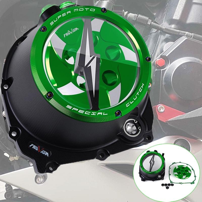 ل Kawasaki Z1000 2010-2015 الربيع التجنيب محرك واضح مخلب غطاء الطبق لكاواساكي Z 1000 2010 2011 2012 2013 2014 2015