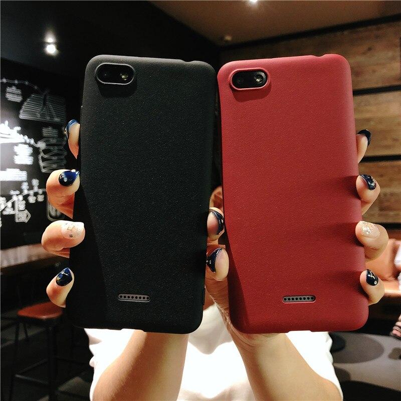 Funda de plástico esmerilada con textura de arena para XiaoMi RedMi 6A 5A 4A Note5 4X, funda trasera suave de TPU para XiaoMi Redmi 5Plus