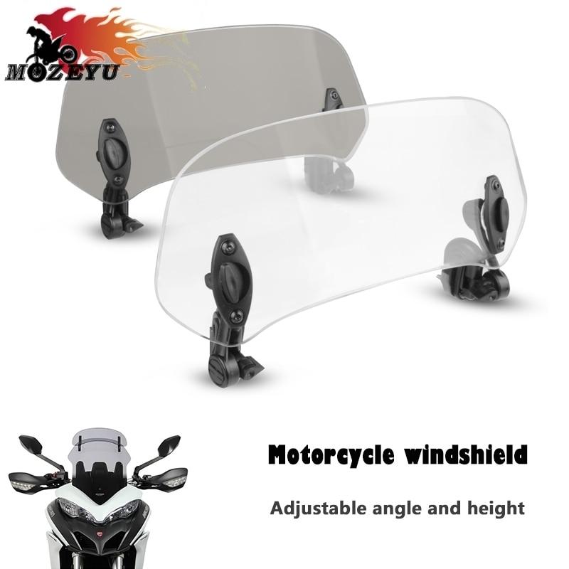 Motorcycle Adjustable Windshield Extension Wind Deflector For HONDA ADV150 2019-2020 PCX 125 150 2017-2020 2019 XADV X-ADV 750