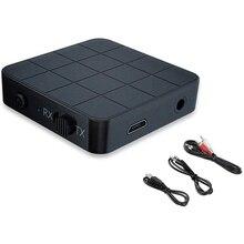 Transmisor y receptor de Audio KN321 2 en 1, adaptador inalámbrico estéreo de música con conector AUX RCA de 5,0 MM para altavoces de TV y coche, Bluetooth 3,5