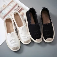 woman flat slip on canvas summer strap loafers straw espadrilles 2020 ladies casual comfort shoes fashion