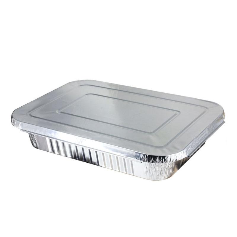 100pcs/lot 4900ml Aluminum Foil Dinner Plate Roast Duck Grilled Fish Lobster Food Grade Open Flame Tin Box