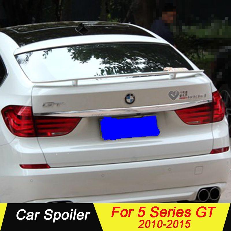 Para bmw série 5 gt f07 spoiler abs material asa traseira do carro spoiler para bmw f07 gt estilo spoiler