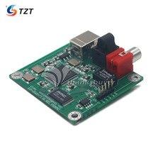 Tzt cm6631a ljm 새 버전으로 동축 및 광섬유 spdif 및 i2s 24 비트/192 khz usb