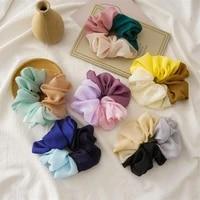 korean elegant summer new ice cream color rainbow large intestine ring style female bandeau head rope tyle elastic hair ring