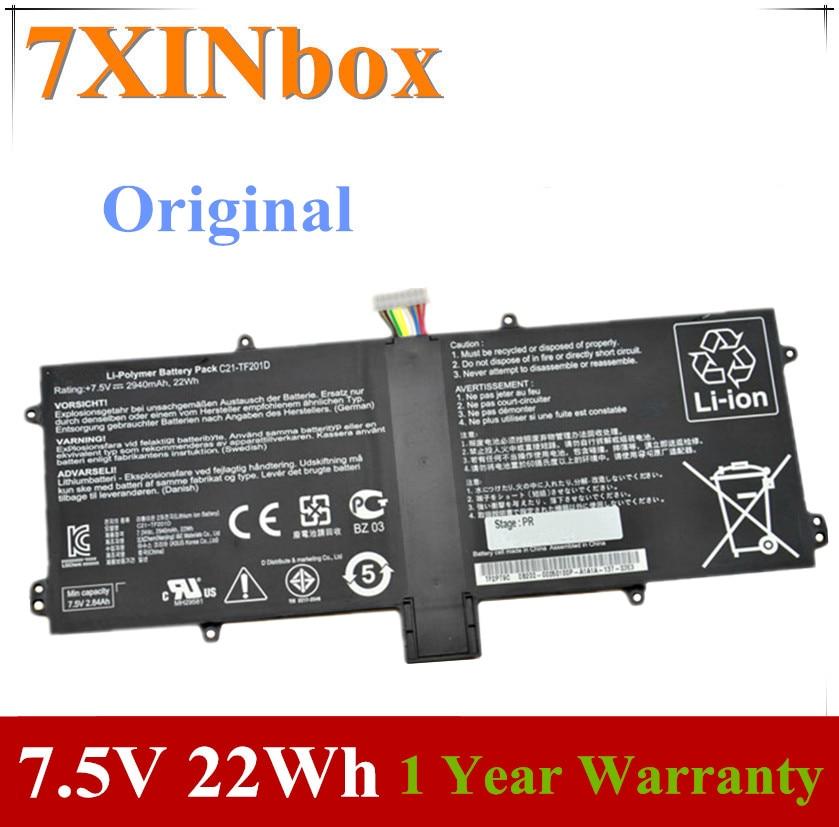 7XINbox 7,5 V 2940mAh 22wh оригинальный C21-TF201D Аккумулятор для ноутбука Asus EeePad Transformer Prime TF201 C21-TF201D TF201D планшет