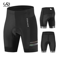 wosawe men mtb cycling gel tight shorts breathable mesh reflective bicycle ropa ciclismo bike shorts with pads shockproof briefs