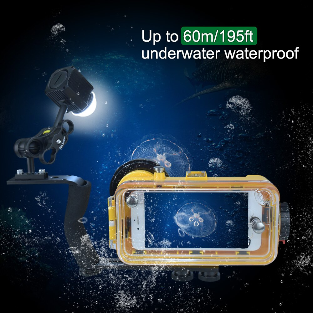 2000Lumen Waterproof LED Light Portable Fill Light For 60m/195ft Diving Mobile Phone And Camera Photography enlarge