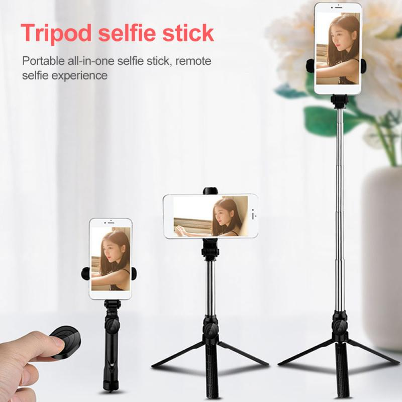 4 in 1 Wireless Bluetooth 3.0 Remote Shutter+Handheld Cellphone Selfie Stick Monopod+Tripod+Holder for IOS Android SmartPhone