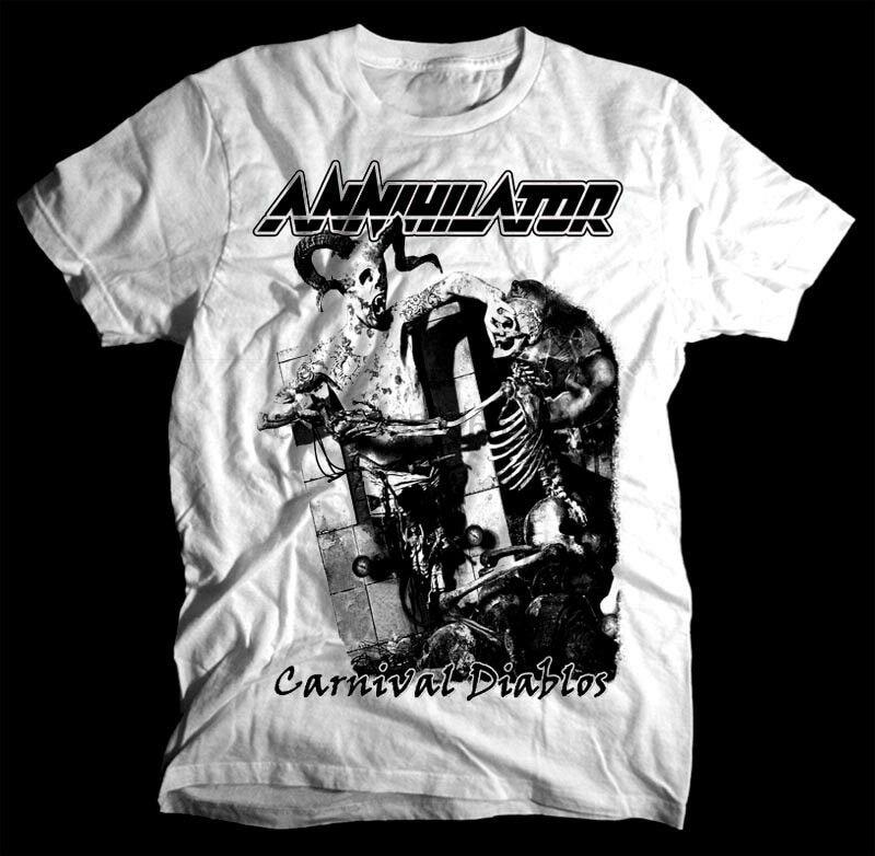Aniquilador carnaval Diablos blanco T Camisa de algodón todos los tamaños S-5XL