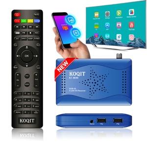 Koqit DVB-S2 Decoder T2-MI Tuner Receptor DVB S2 Satellite Receiver internet Finder Biss Vu IPTV MeeCast TV Mirror Cast Youtube