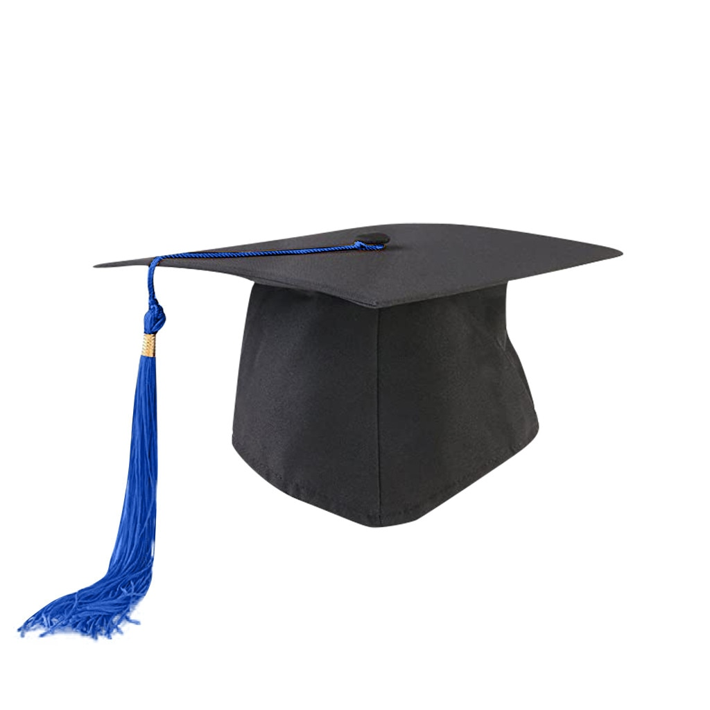 Nuevos gorros de graduación de alta calidad para adultos y niños con borlas para ceremonia de graduación suministros para fiestas universitarias ajustables