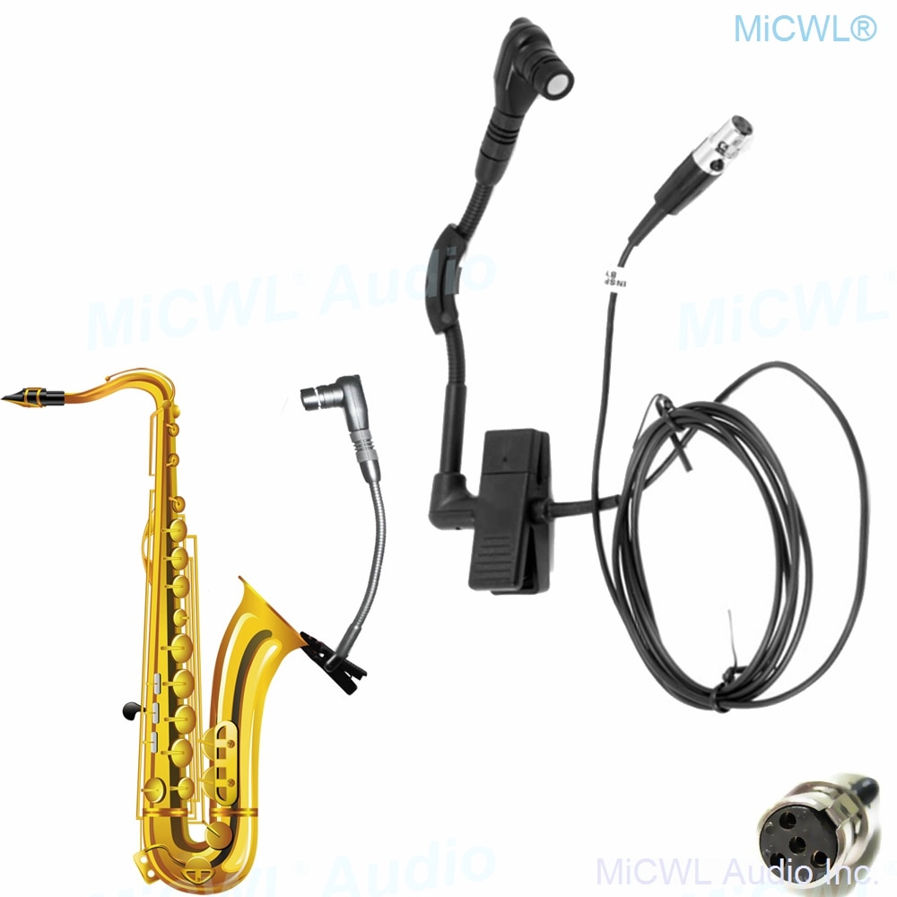 Micrófono de instrumento mikwl Beta98 para Shure, inalámbrico, BeltPack para música, guitarra, bajo, viento, percusión, Piano, saxofón, cuello de cisne