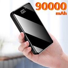 Téléphone batterie externe 90000mAh USB Type C 50000mAh Powerbank chargeur de batterie externe pour iPhone 11 pour Xiaomi