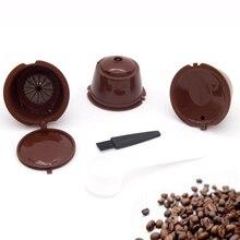 3 capsules de café réutilisables, tasse filtrante pour nescafé Dolce Gusto bouchons rechargeables cuillère brosse filtres paniers Pod goût doux sucré