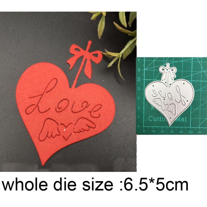Штампы для рукоделия, металлические штампы для вырезания, форма для вырезания, сердце, украшение, скрапбукинг, штампы для бумаги, нож для рук...