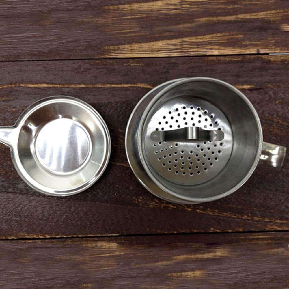 50/100ml vietname estilo aço inoxidável café gotejamento filtro fabricante pote infuse copo escritório mão casa filtro gotejamento copo