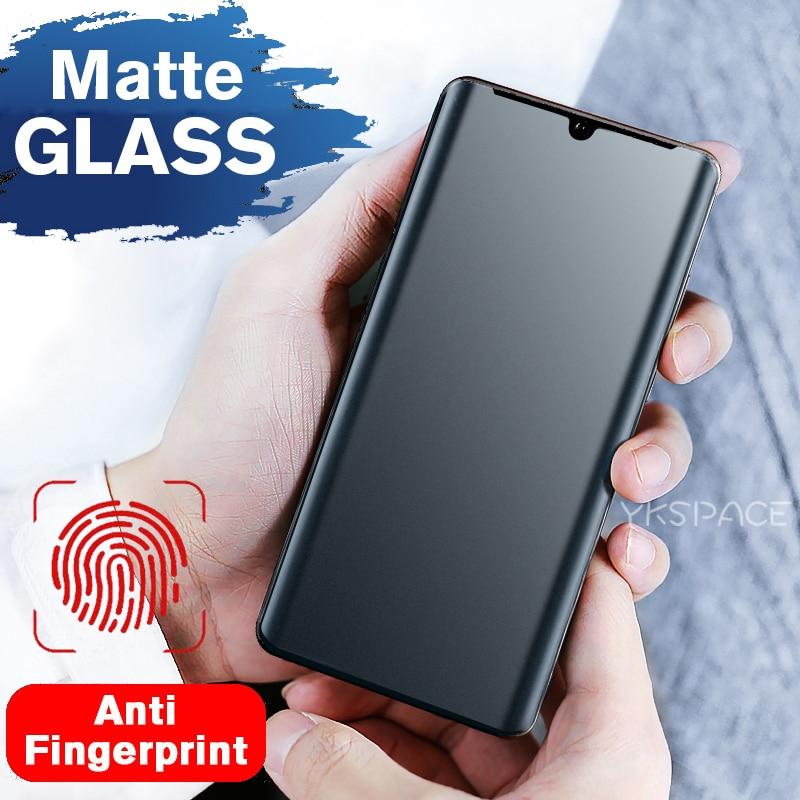 Protector de pantalla Mate esmerilado completo curvo 3D para Huawei P30 P40 Pro Mate 20 Pro 20X 30 9H, cristal templado, antihuellas dactilares