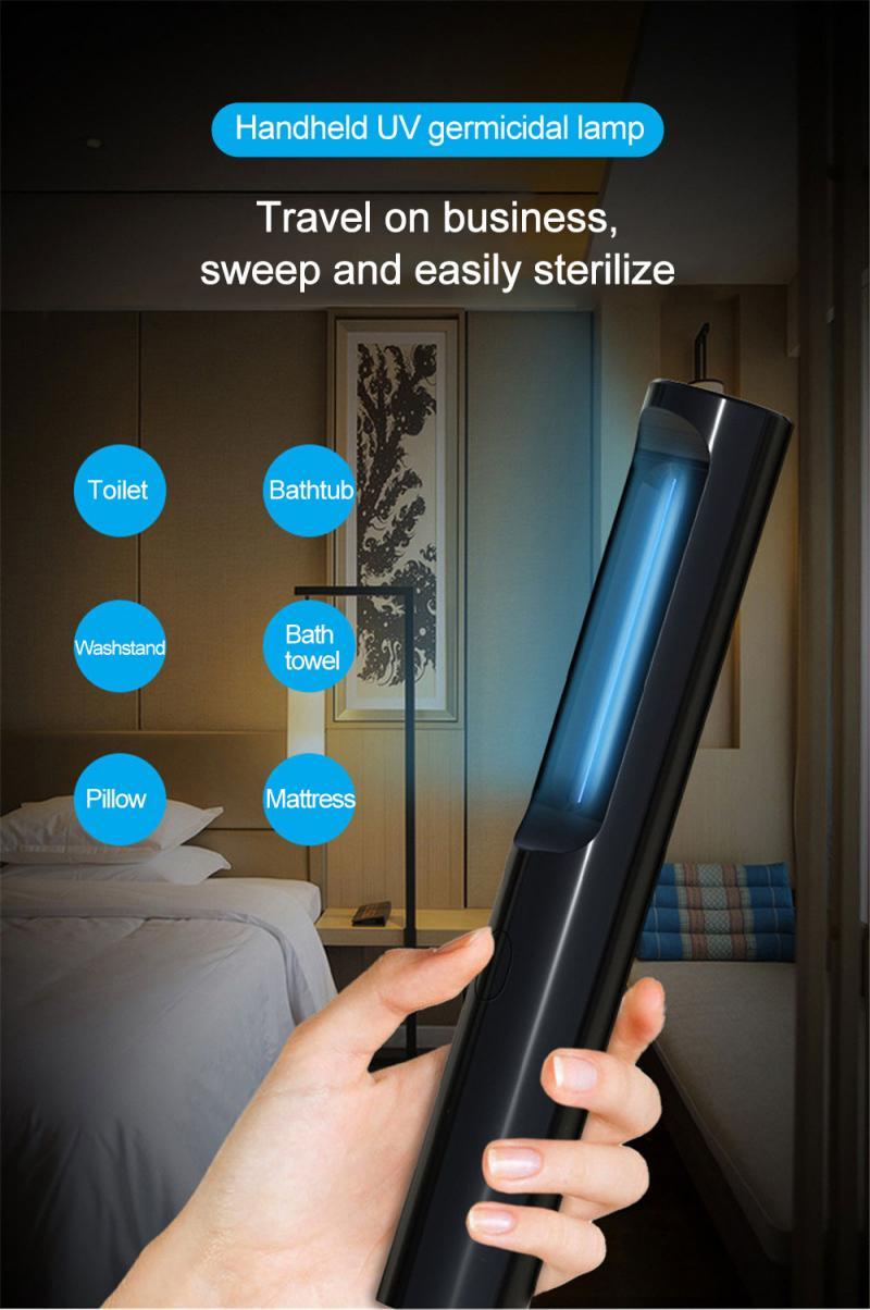 Esterilizador de luz UV portátil con USB, lámpara esterilizadora UVC, ultravioleta, desinfección,...