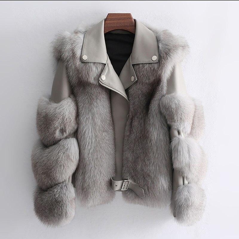 Autummn Winter Faux Leather PU Jackets Women Long Sleeve Faux Fur Coat Fashion Street Motorcycle Zipper Jacket Outerwear 40-68kg enlarge