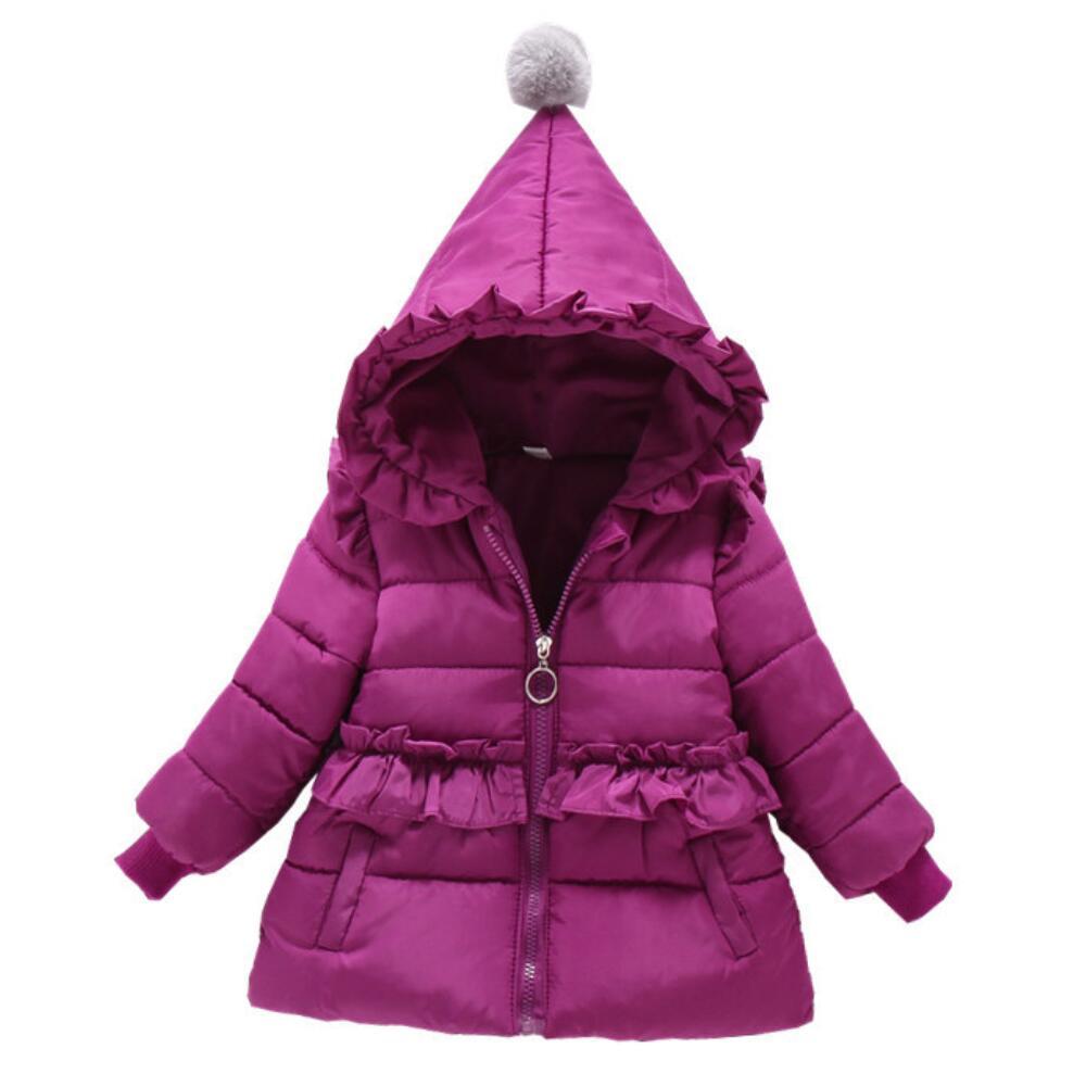 Chaqueta de invierno para niñas, Parka para niños, novedad de 2020, con capucha gruesa de encaje, cálidos complementos externos abrigo para niños, 1, 2, 3, 4, 5, 6, abrigo de princesa para bebés