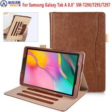Étui pour tablette pour Samsung galaxy tab A 8.0 SM-T295 T290 T297 2019 support étui en cuir pour Samsung galaxy tab A8.0 2019 T295 T297