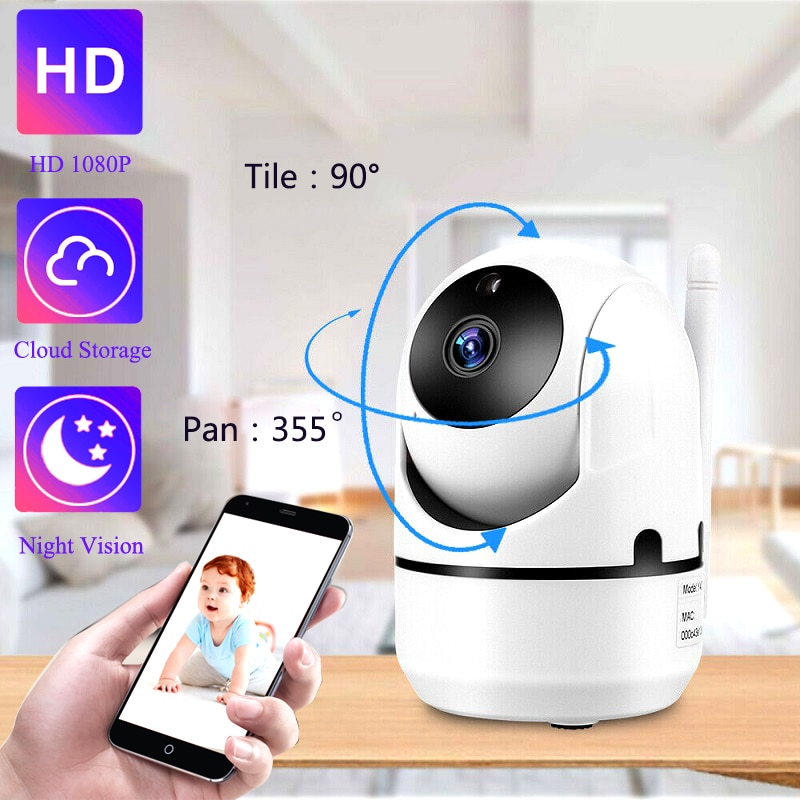 QZT IP Camera WiFi Home Security Camera IP 360 Night Vision Baby Monitor Indoor Mini Surveillance CC