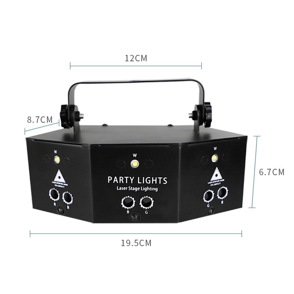 9 глаз RGB дискотека лампа DMX пульт управление сцена стробоскоп свет ди-джей светодиод лазер свет Хэллоуин Рождество бар вечеринка проектор дом декор