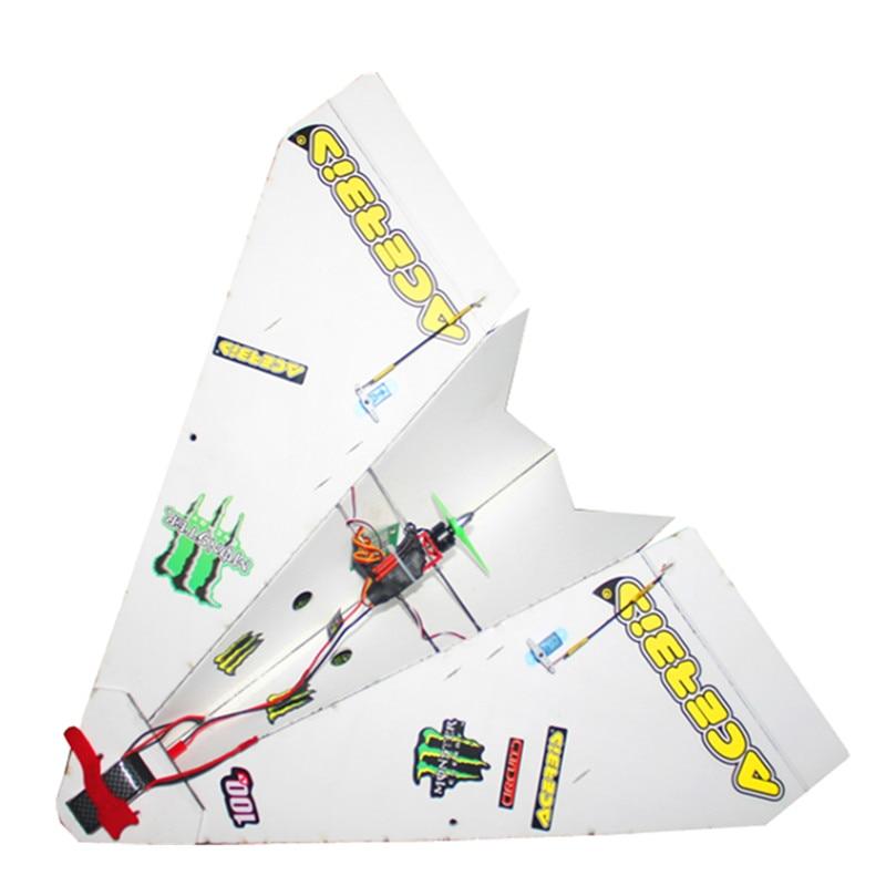 550 мм размах крыльев DIY волшебная доска бумага пульт дистанционного управления RC Самолет RC самолет PNP для начинающих