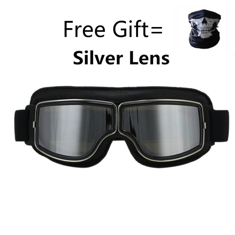 Universal Vintage motocicleta gafas moto Scooter gafas de motociclista casco gafas plegables