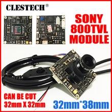 "HD 1/3""Sony CCD Effio 4140+673 Simple hd camera chip module 2.8mm 3.0mp lens big Wide Angle osd menu mini Finished Monitor board"